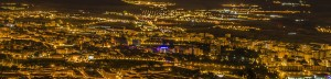 city of pamplona at night