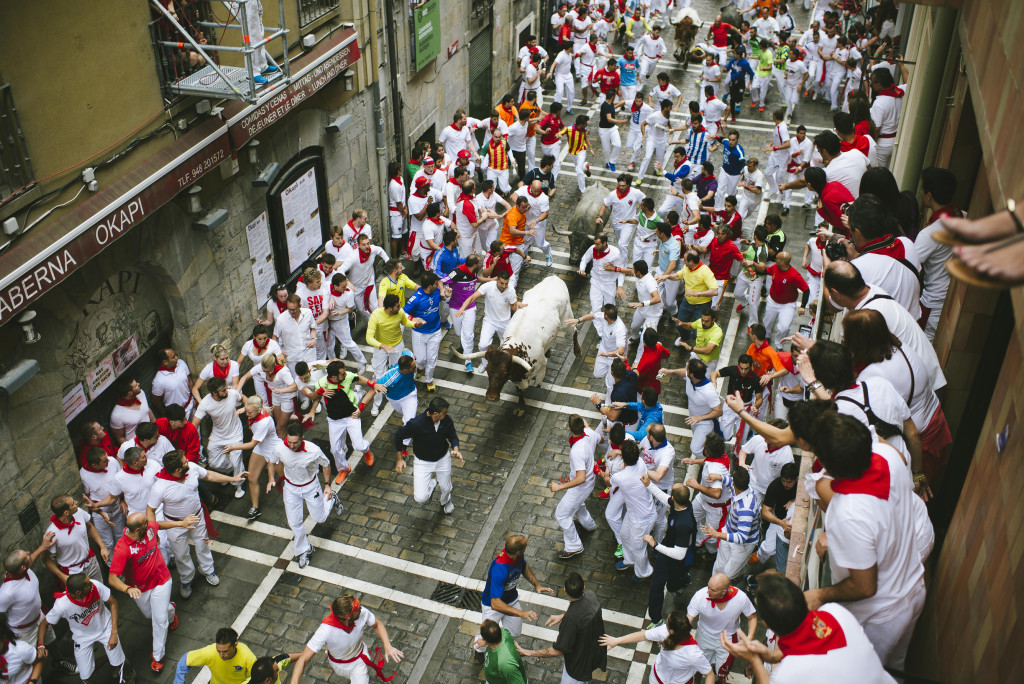 Running of the Bulls Balcony on Estafeta