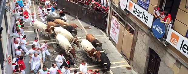 Running of the Bulls Balcony Rental at Dead Man's Curve